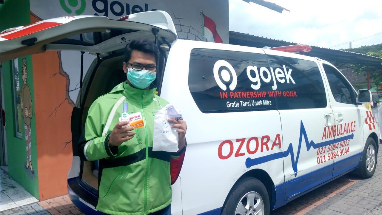 Perangi Covid-19, Gojek DIY Lengkapi Ribuan Mitranya Dengan Masker, Hand Sanitizer, dan Vitamin